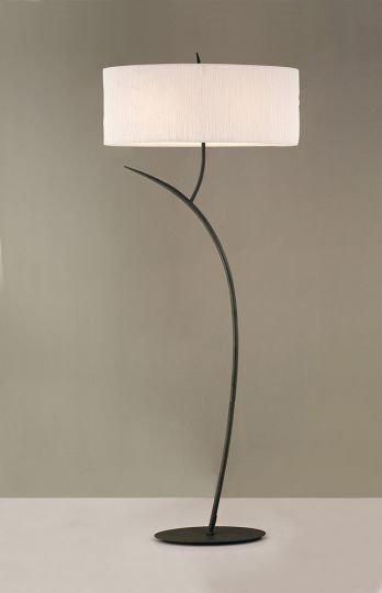 Mantra Lighting - EVE FLOOR 2 LIGHT ANTRACITE WITH WHITE SHADE - M1159