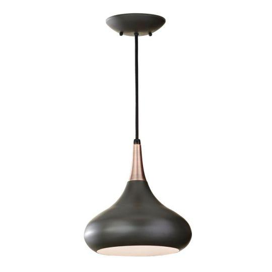 Feiss Beso 1 Light Medium Pendant  - Dark Bronze FE-BESO-P-M-DBZ