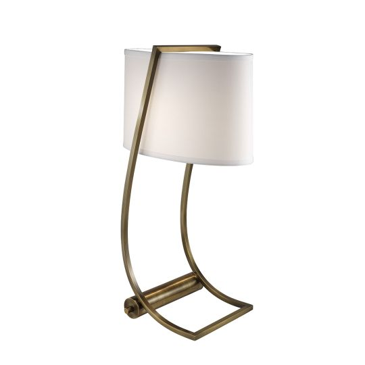 Feiss Lex 1 Light Table Lamp - Bali Brass FE-LEX-TL-BB