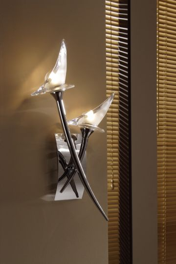 Mantra Lighting - Flavia Switched Wall Lamp 2 Light Polished Chrome - M0308/S