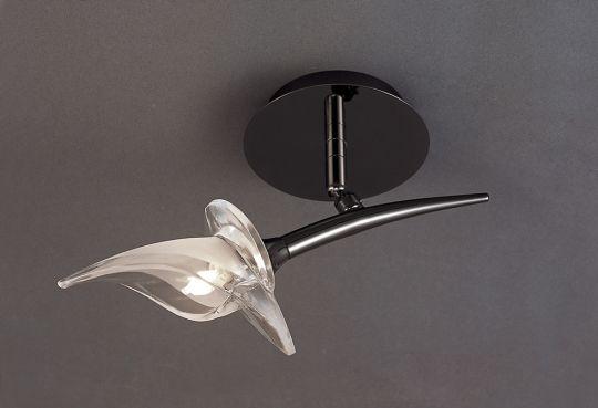 Mantra M0315BC Flavia Spot 1 Light G9 With Adjustable Heads Black Chrome