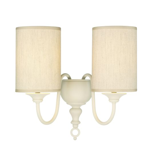 DAR Lighting - FLEMISH DOUBLE WALL BRACKET CREAM COMES WITH SHADE