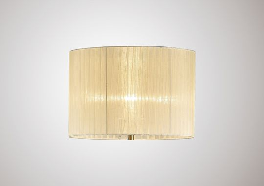 Diyas ILS31531 Florence Round Organza Shade Cream 380mm x 260mm Suitable For Floor Lamp