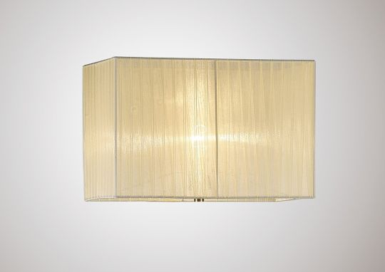 Diyas ILS31533 Florence Rectangle Organza Shade 400x210x260mm Cream For Floor Lamp