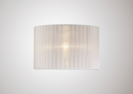 Diyas ILS31535 Florence Round Organza Shade White 380mm x 260mm Suitable For Floor Lamp