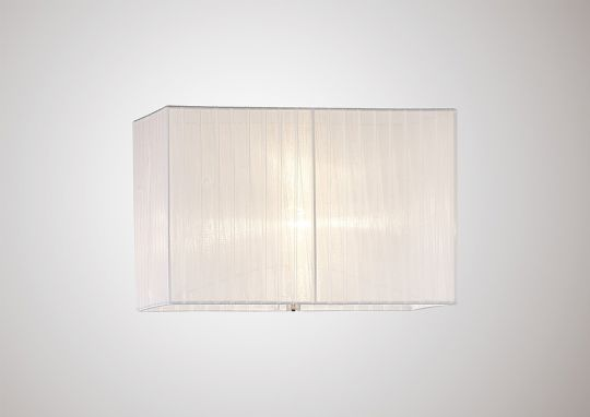 Diyas ILS31537 Florence Rectangle Organza Shade 400x210x260mm Cream White For Floor Lamp