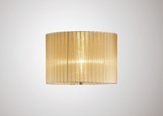 Diyas ILS31721 Florence Round Organza Shade Soft Bronze 380mm x 260mm Suitable For Floor Lamp