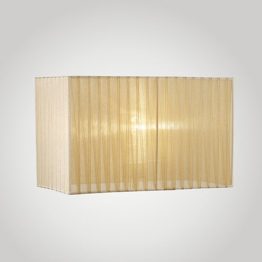 Diyas ILS31723 Florence Rectangle Organza Shade 400x210x260mm Soft Bronze For Floor Lamp