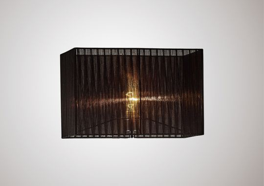 Diyas ILS31727 Florence Rectangle Organza Shade  400x210x260mm Black For Floor Lamp