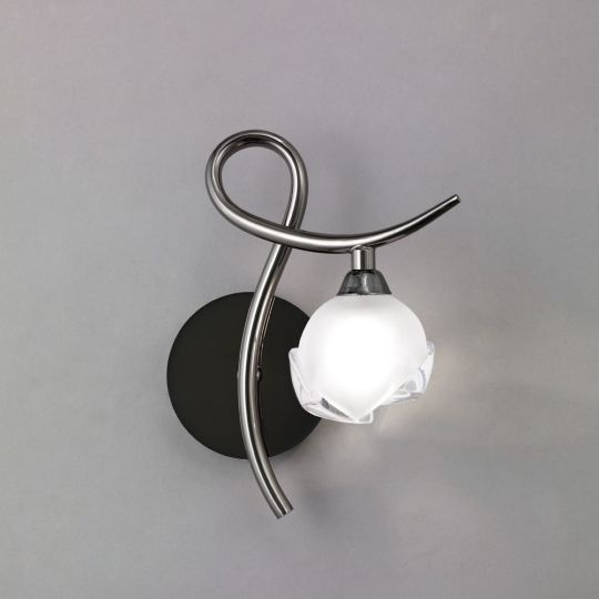 Mantra M0818BC/R/S Fragma Wall Lamp Right Switched 1 Light G9 Black Chrome
