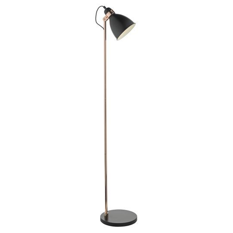 Dar Lighting Frederick Floor Lamp Black & Copper FRE4922