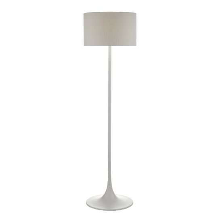 Dar Lighting Floor Lamp Grey With Shade FUN4939