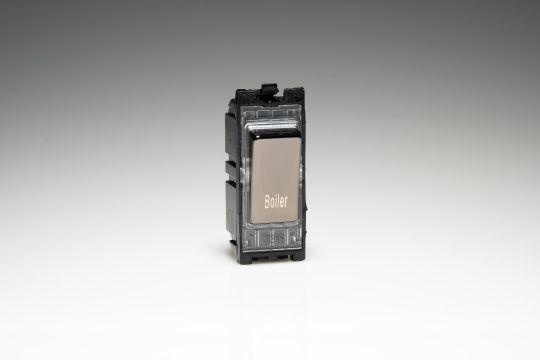 Varilight Iridium 20A 1-Way Double Pole Switch 'Boiler' (G201DI.BR)