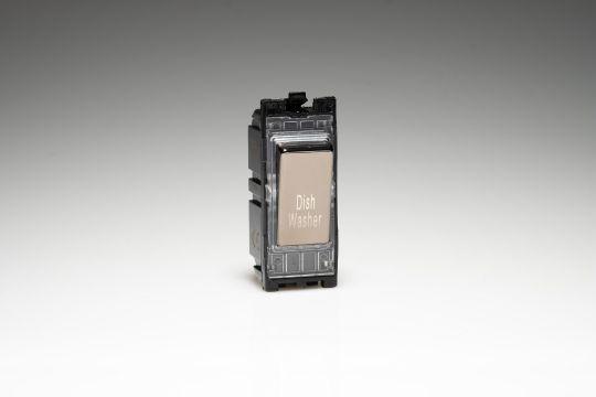 Varilight Iridium 20A 1-Way Double Pole Switch 'Dishwasher' (G201DI.DW)