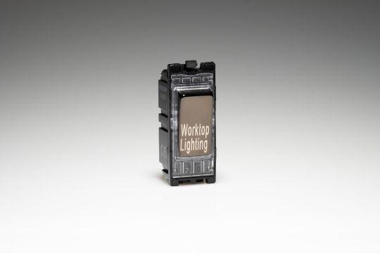 Varilight Iridium 20A 1-Way Double Pole Switch 'Worktop Lighting' (G201DI.WL)