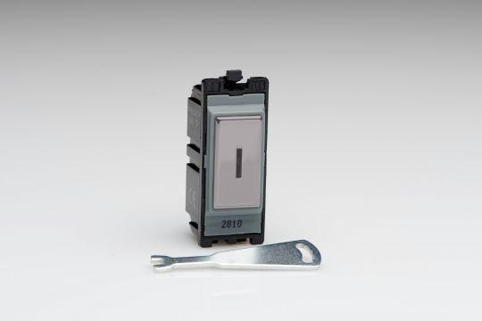 Varilight Iridium 20A 1-Way Double Pole Key Switch (G201DKI)