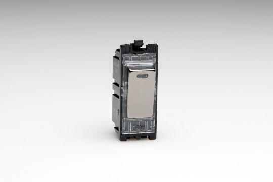 Varilight Iridium 20A 1-Way Double Pole Switch + Neon (G201DNI)
