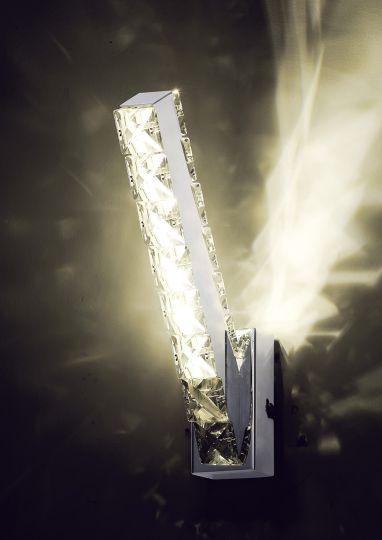 Diyas IL80031 Galaxy Vertical Wall Lamp 3W LED 4000K Polished Chrome/Crystal