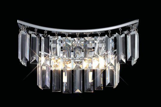 Diyas Lighting - Gianni Wall Lamp 2 Light Polished Chrome/Crystal Switched - IL30641