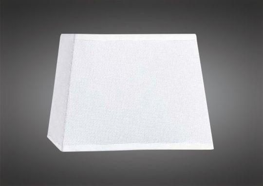 Mantra M5314 Habana White Square Shade 355/355x250mm Suitable for Floor Lamps
