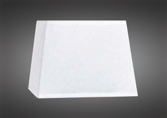 Mantra M5324 Habana White Square Shade 240/240x 165mm Suitable for Table Lamps