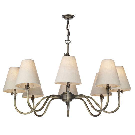 David Hunt Lighting HIC0875 Hicks 8 Light Pendant Antique Brass