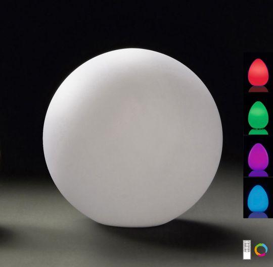 Mantra  M1393 Huevo Ball Table Lamp Medium Induction LED RGB Outdoor IP65 120lm Opal White 2yrs Warranty