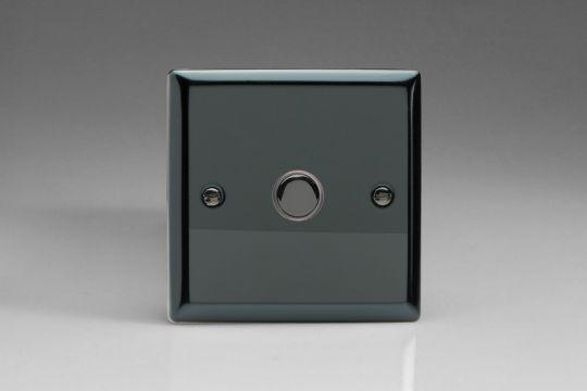 VARILIGHT Lighting - 1 GANG (SINGLE) 1 OR 2 WAY 6 AMP PUSH-ON PUSH-OFF SWITCH (IMPULSE) IRIDIUM BLACK - XIP1