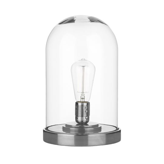 David Hunt Lighting JEF4267 Jefferson Cloche Table Lamp Pewter/ Clear