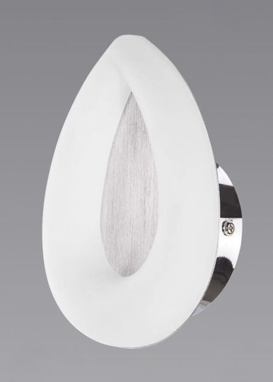 Mantra M8250 Juno Wall Lamp 5W LED 3000K 450lm Satin Aluminium/Frosted Acrylic/Polished Chrome 3yrs Warranty