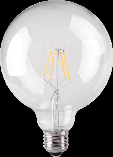 4.5W LED Filament GLOBE Bulb - Screw