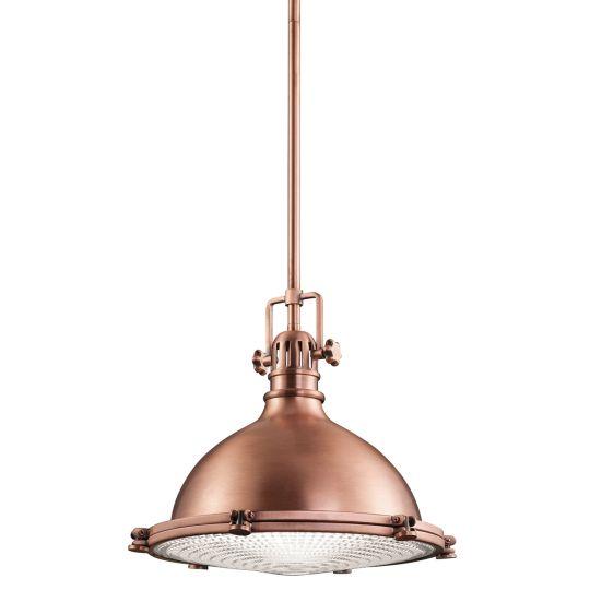 Kichler Hatteras Bay 1 Light Medium Pendant - Antique Copper KL-HATTERAS-BAY-M-ACO