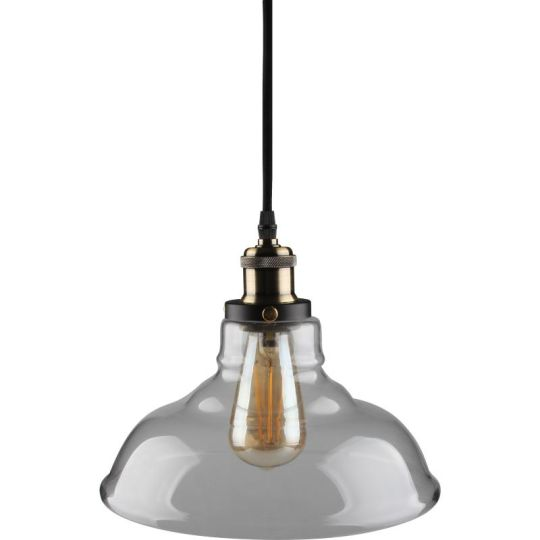 Kosnic Zinnia 60W E27 Pendant Cable Set with Bowl Lampshade, Clear (KPDT1E27-CLR)