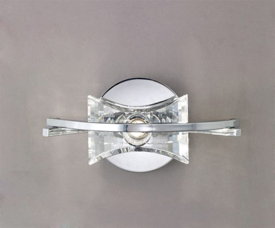 Mantra M0892/S Kromo Wall Lamp Switched 1 Light G9 Polished Chrome