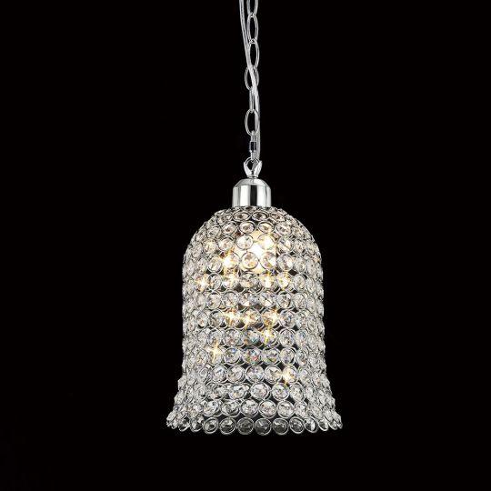 Diyas Lighting - Kudo Non-Electric Bell Shade Polished Chrome/Crystal - IL60001