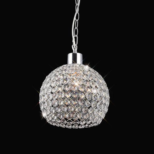Diyas Lighting - Kudo Crystal Ball Shade Polished Chrome Non-Electrical - IL60007