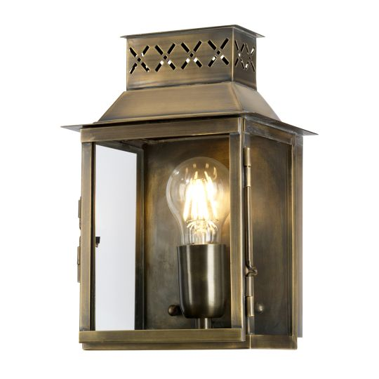 Elstead Lighting Lambeth Palace 1 Light Wall Lantern - Brass LAMBETH-PALACE