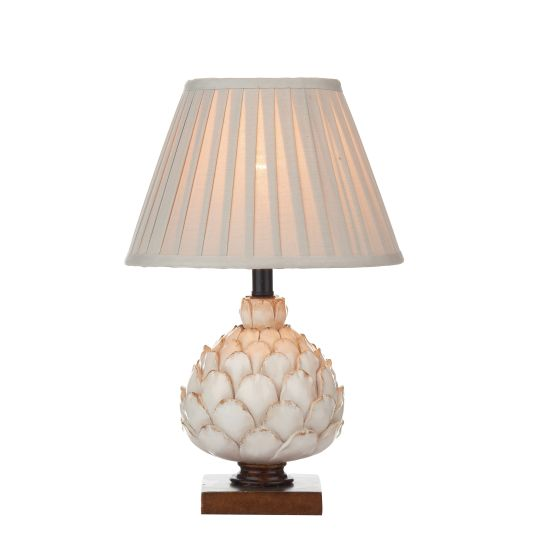 Dar Lighting Layer Table Lamp Cream Small complete with Shade LAY4133-X