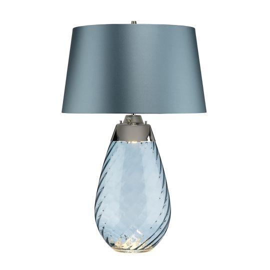 Elstead Lighting Lena 2 Light Large Blue Table Lamp LENA-TL-L-BLUE