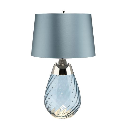 Elstead Lighting Lena 2 Light Small Blue Table Lamp LENA-TL-S-BLUE