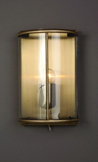 Impex LG77130/WB/AB Orly  Series Decorative 1 Light Antique Brass Wall Light