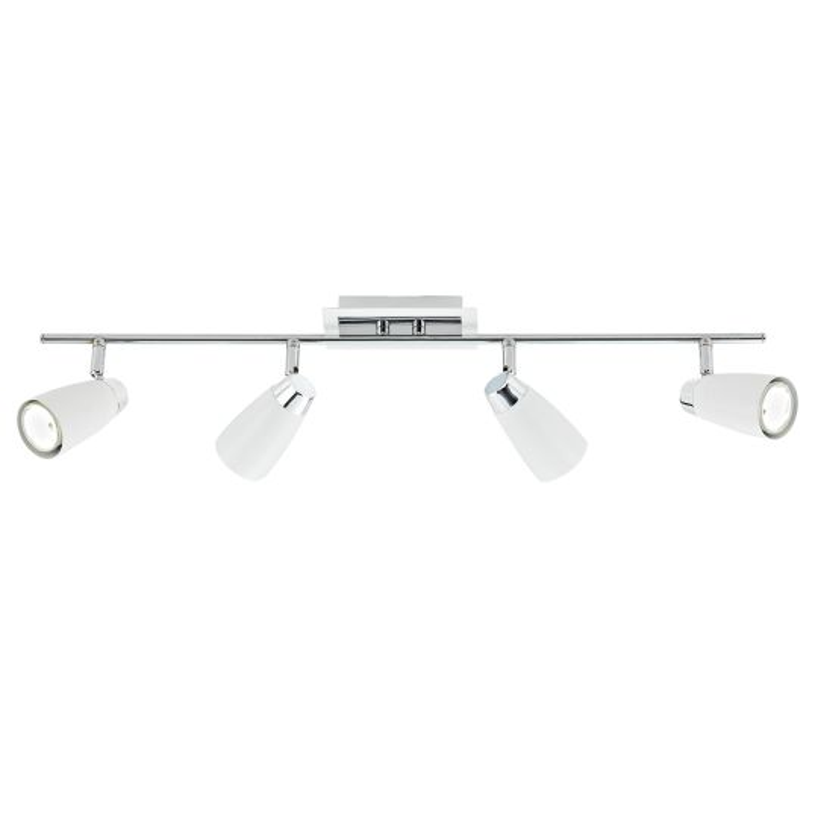 DAR Lighting - LOFT 4 LIGHT BAR WHITE - LOF842