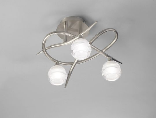 Mantra M1814 Loop Ceiling 3 Light G9 ECO Satin Nickel