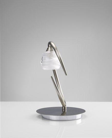 Mantra M1817 Loop Table Lamp 1 Light G9 ECO Satin Nickel