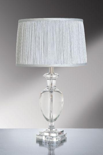 Luis Collection LUI/ANTONIA Antonia Clear Crystal Temple Jar Table Lamp
