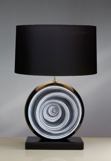 Luis Collection LUI/BLACK SWIRL Black Swirl Table Lamp
