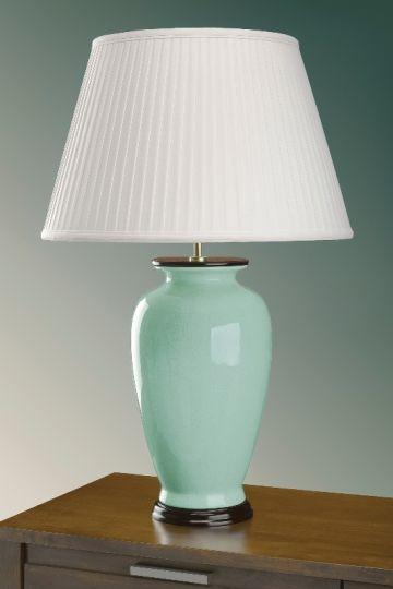 Luis Collection LUI/CELADON Celadon Crackle Table Lamp