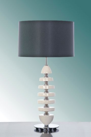 Luis Collection LUI/CORDELIA Cordelia Cream Ceramic Table Lamp