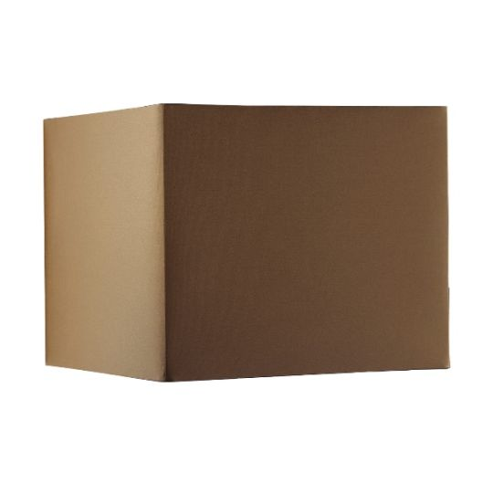 Luis Collection LUI/LS1015 Brown 30cm Square Cube Shade