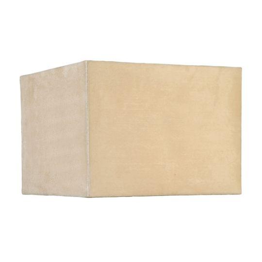 Luis Collection LUI/LS1016 Stone 30cm Suedette Cube Shade